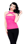 Halter Top in Pink - Hug Your Curves by Putre Fashion