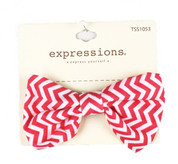 Striped Bow Barrettes