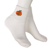 Bobby Socks with Appliques -  Halloween Pumpkin