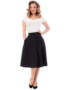 High Waist Thrills Skirt w Pockets - Black - S to 2X