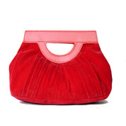 Red Velvet Clutch Purse by Hearts & Roses