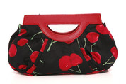 Cherry Clutch Purse by Hearts & Roses