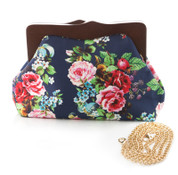 Blue Rose Bouquet Clutch Purse by Hearts & Roses