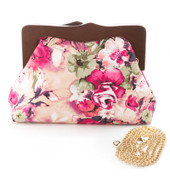 Samantha Floral Clutch Purse by Hearts & Roses