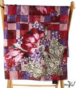 Vintage Carole Little Fashion Scarf - Silk - Fleur de Lis  - Square 31x31