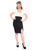 Cora Pencil Skirt - Black - S to 2X