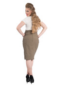 Cora Pencil Skirt - Olive - S to 2X