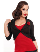 Rose Marilyn Sweater - Black - S to 2X