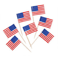 100 USA American Flag Toothpicks-Decorate Appetizers or Desserts