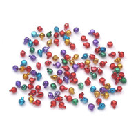 """Jingle Bells Silver or Gold tone 3/8"""" or Multi-colored 6mm"""