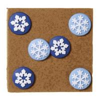 Snowflake push pins