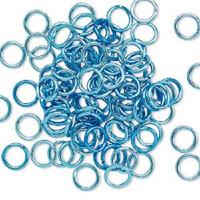 6mm Aqua Blue Jumprings or Jump Rings