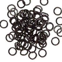 6mm Black Jumprings or Jump Rings