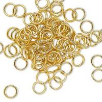 6mm Matte Gold Jumprings or Jump Rings