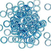7.25mm Aqua Blue Jumprings or Jump Rings