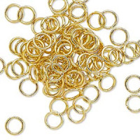 7.25mm Gold Jumprings or Jump Rings