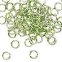 7.25mm Green Jumprings or Jump Rings