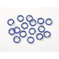 7.25mm Blue Jumprings or Jump Rings