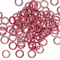 7.25mm Red Jumprings or Jump Rings
