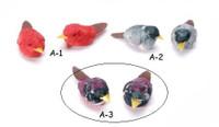 2 Purple Mushroom Birds 1 1/4 inch  #A3