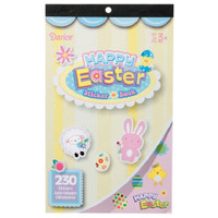 1 Easter Sticker Book 230, Bunny, Eggs, Flowers, Sheep, Chicks 6 sheets
