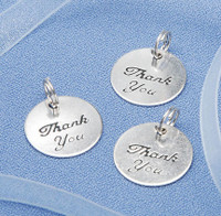 "20pc Rnd ""Thank you"" Wedding Favors -silver tone"