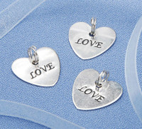 "20pc Heart shaped ""LOVE"" wedding favors  -silver tone"