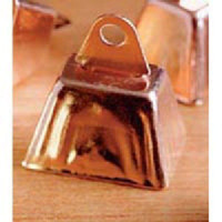 """Copper Cowbells/ Cow Bells 1.25"""" x 1""""  12pc"""