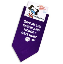 Give me the bacon and nobody gets hurt — Dog Bandanna