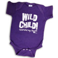 Wild Child! Just like my Aunt! Purple 100% cotton one-piece/onesie.