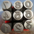 Metal Dot Stamps 12mm Number Set   HRC-58-62 heads tail tempered best quality