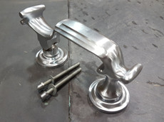door knocker brushed chrome
