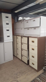 array of filing cabinets