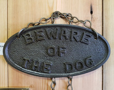 beware of the dog (hanging)