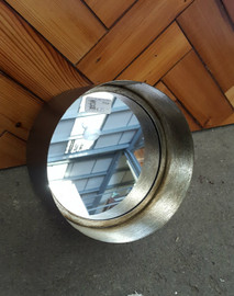 Deep frame round mirror (small)