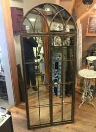 curve mirror with doors