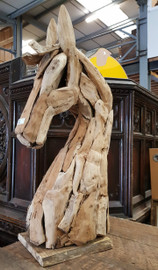 timber horse head