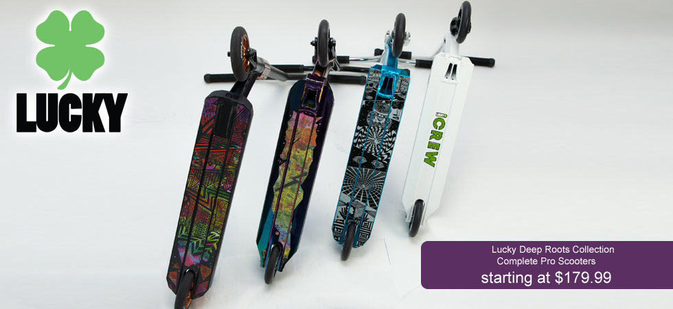 Buy a Lucky pro scooter in Orlando, Florida.  Deep Roots Collection now available!