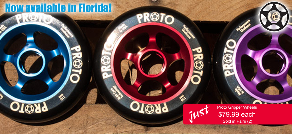 Buy Proto Scooters Wheels in Orlando, Florida.