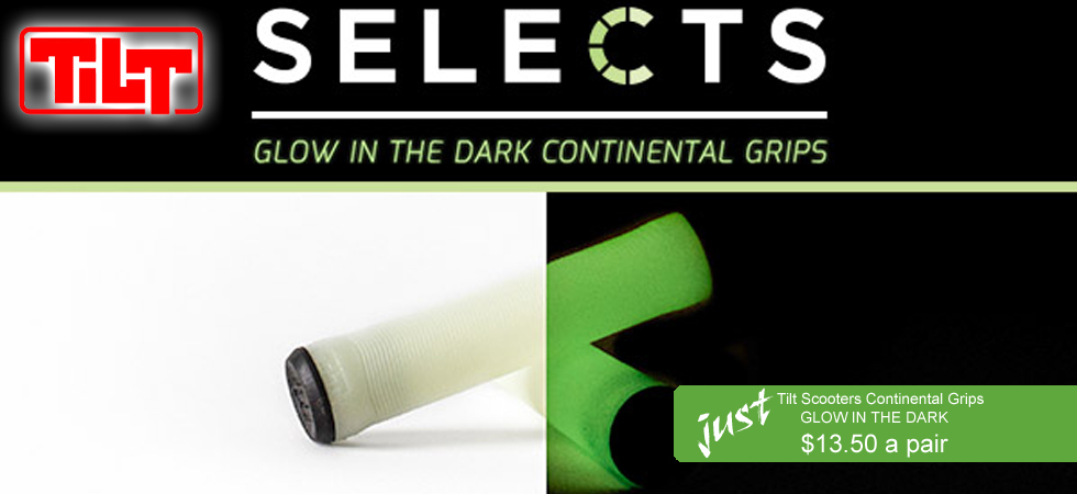 Get Glow in the Dark scooter grips for your pro scooter.