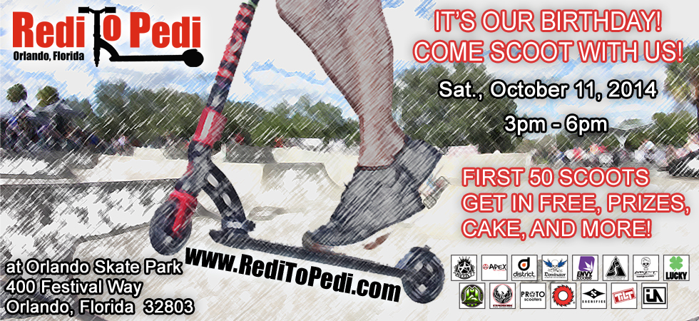 Pro Scooter event in Orlando, Florida at Orlando Skate Park on October 11, 2014