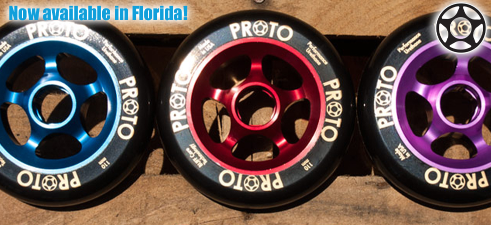 Buy Proto Scooter Wheels in Orlando, Florida on Interntional Drive.