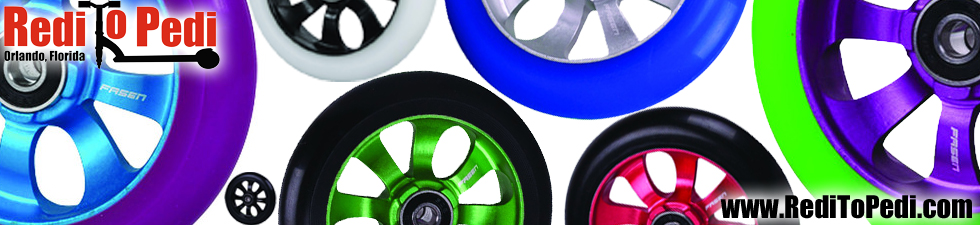 Fasen Stunt Wheels can be purchased in Florida from Redi To Pedi on Internatioal Drive.