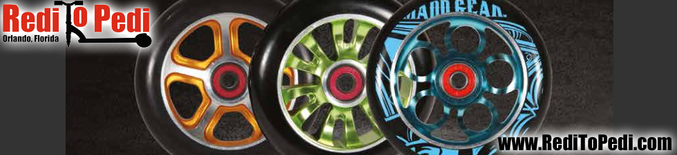 Buy MGP Scooter wheels in Orlando, Florida.  Order online or shop at our store on International Drive.