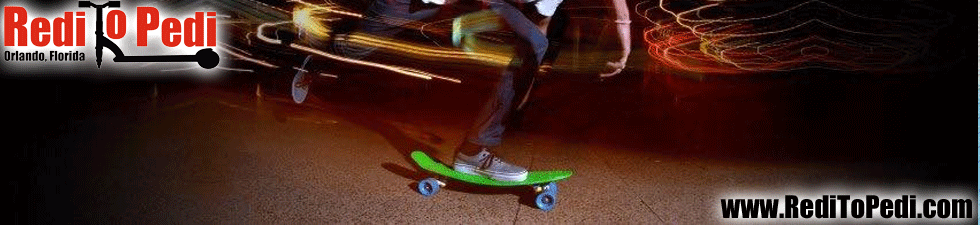 Purchase your penny board skateboard in Orlando, Florida at Redi To Pedi inside Pointe Orlando on International Drive.
