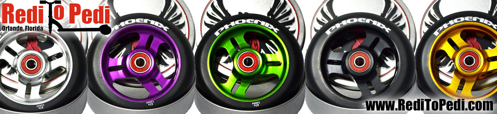 Buy Phoenix scooter wheel here online or for sale at our store in Orlando, Florida.
