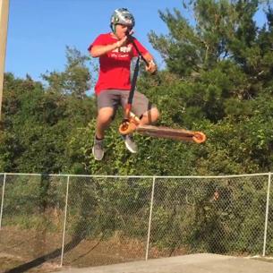 Scooter Rider Gavin Hudick