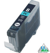 Re-manufactured Canon CLI-8 Photo Cyan Inkjet Cartridge