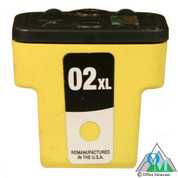 Re-manufactured Hewlett-Packard C8773 (HP 02XL) Yellow Inkjet Cartridge