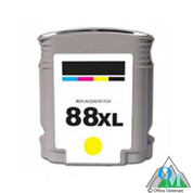 Re-manufactured Hewlett-Packard C9393AN (HP 88XL) Yellow Inkjet Cartridge